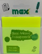 Bloco Ades Transparente Clearnote Amarelo Neon 50f Maxprint 744891