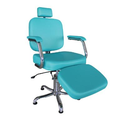 Cadeira Rec Toronto com Descanso de Pernas Azul Tiffany Kixiki (Sob Encomenda)