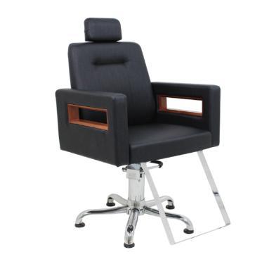 Cadeira Reclinável Lisboa Preto Perol Kixiki (Sob Encomenda)