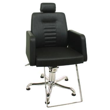 Cadeira Rec Loren Preto Perol KIxiki (Sob Encomenda)