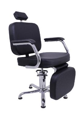 Cadeira Rec Toronto com Descanso de Pernas Preto Perol Kixiki (Sob Encomenda)
