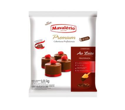COBERTURA MAVALÉRIO PREMIUM GOTAS CHOCOLATE AO LEITE 1KG