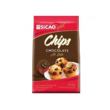 CHIPS CHOCOLATE AO LEITE 1,01 KG SICAO GOLD
