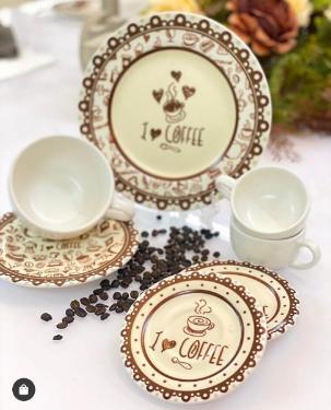 Prato de Sobremesa Coffee