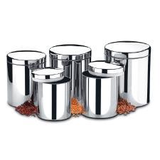 Conjunto 5 Potes para Mantimentos Suprema 2100/101 BRINOX