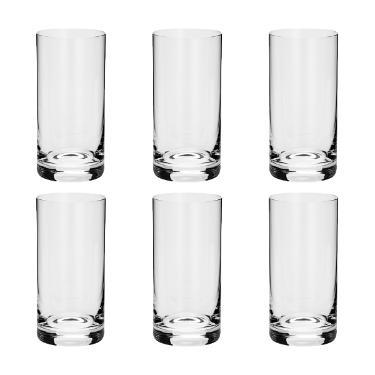 Jogo de copos em cristal long drink Bohemia Favorit 6 peças 380ml