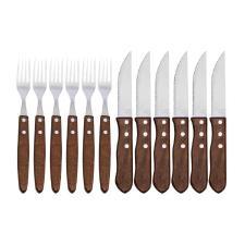 Jogo de churrasco facas e garfos Mundiart Jumbo 12 peças