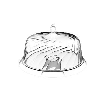 Prato para bolo em acrílico com pé Crippa 30cm