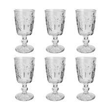 Jogo de taças em vidro para água tropical Lyor Palm 310ml 6 peças